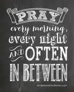 pray more often