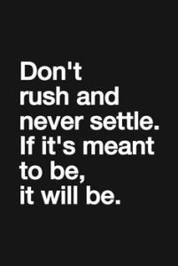 rush and settle