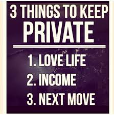 keeping a relationship private
